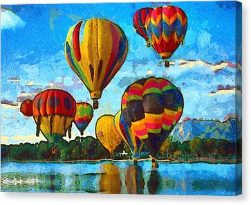 Colorado Springs Hot Air Balloons Canvas Print by Nikki Marie Smith