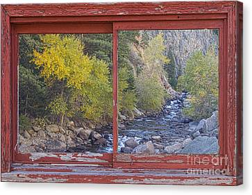 Colorado St Vrain Canyon Red Rustic Picture Window Frame Photos  Canvas Print by James BO  Insogna