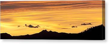 Tebow Canvas Print - Colorado Sunrise Landscape by Beth Riser