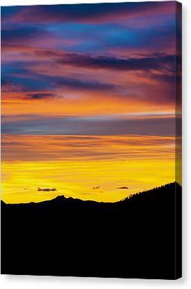Tebow Canvas Print - Colorado Sunrise -vertical by Beth Riser