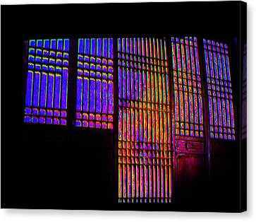 Colored Lines Canvas Print by Val Oconnor