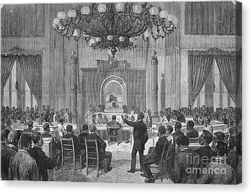 Colored National Convention, 1876 Canvas Print by Photo Researchers