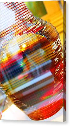 Colored Vase At The Mayo Clinic Canvas Print by Laura  Grisham