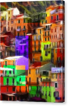 Colored Windows Canvas Print by Steve K