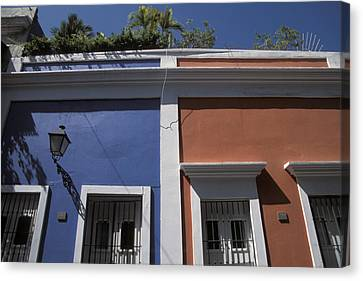 Colorful Architecture In Old San Juan Canvas Print by Scott S. Warren