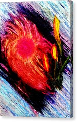 Canvas Print featuring the painting Colorful Array by Ayasha Loya