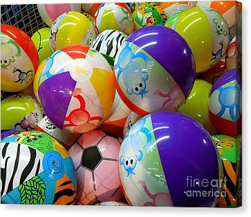 Canvas Print featuring the photograph Colorful Balls by Renee Trenholm