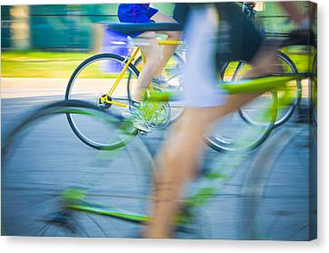 Colorful Bike Race Canvas Print by Anthony Doudt