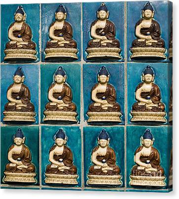 Colorful Buddha Tiles Canvas Print