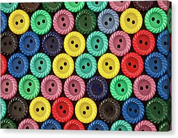 Colorful Buttons Canvas Print by Jeff Suhanick
