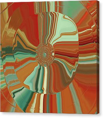 Colorful Circles Canvas Print by Bonnie Bruno