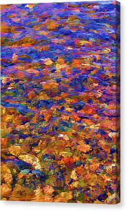Canvas Print featuring the digital art Colorful Clear Creek by Brian Davis