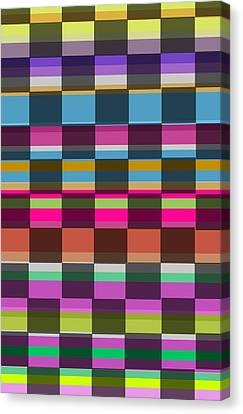 Colorful Cubes Canvas Print by Louisa Knight