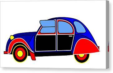 Colorful Darling - Virtual Car Canvas Print by Asbjorn Lonvig