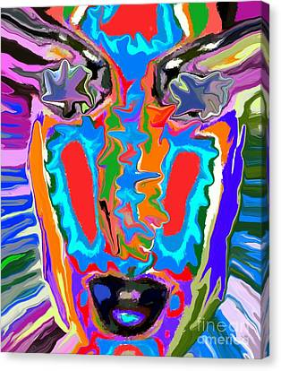 Face Canvas Print - Colorful Face by Chris Butler