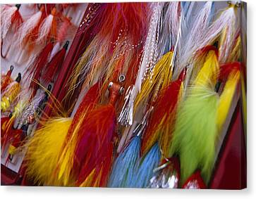 Colorful Fishing Lures Made Canvas Print by Michael Melford