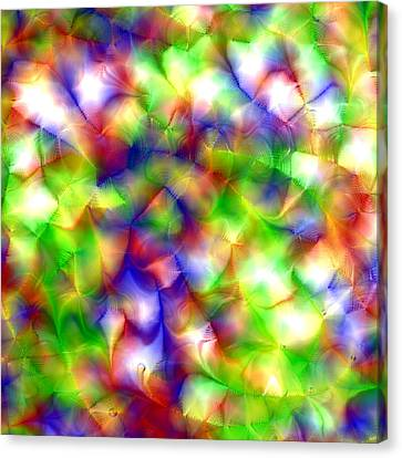 Colorful Fractal Abstract  Canvas Print by Gina Lee Manley
