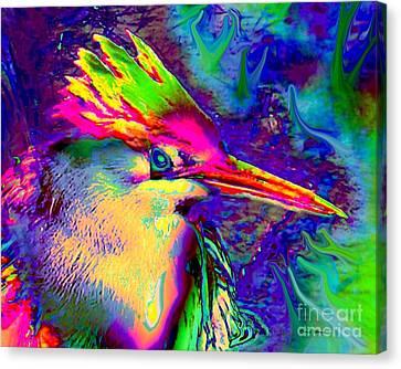 Colorful Heron Canvas Print by Doris Wood