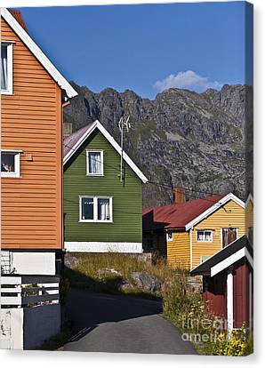 Colorful Houses Canvas Print by Heiko Koehrer-Wagner
