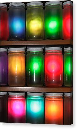 Colorful Jars Canvas Print by Tom Gowanlock