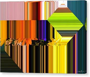 Canvas Print featuring the digital art Colorful Kaleidoscope by Michelle Frizzell-Thompson