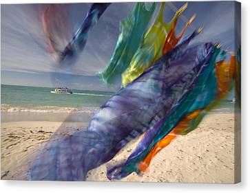Colorful Laundry On A Windy Day Canvas Print by Michael Melford