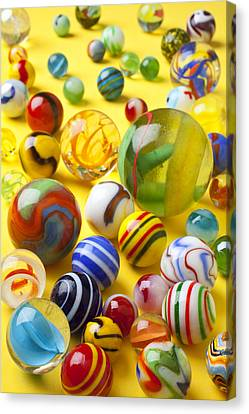 Colorful Marbles Canvas Print by Garry Gay