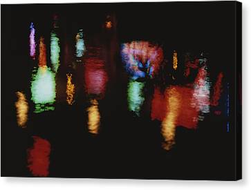 Colorful Neon Of Popular Nightspots Canvas Print by Stephen St. John