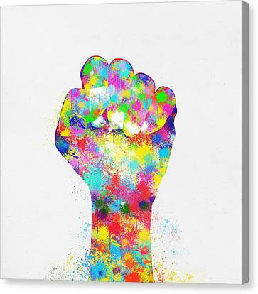 Closely Canvas Print - Colorful Painting Of Hand by Setsiri Silapasuwanchai