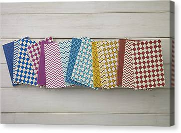 Colorful Pattern Of Notebooks Canvas Print