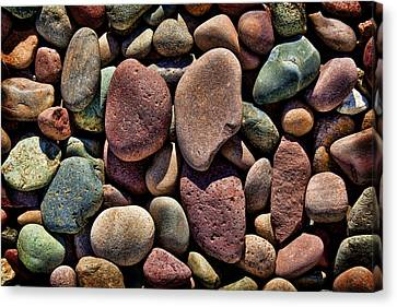 Colorful Rocks Canvas Print by Kelley King