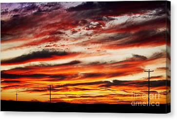 Colorful Rural Country Sunrise Canvas Print by James BO  Insogna