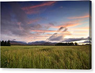 Colorful Sunset Over The High Peaks Wilderness In Adirondack Park - New York Canvas Print by Brendan Reals
