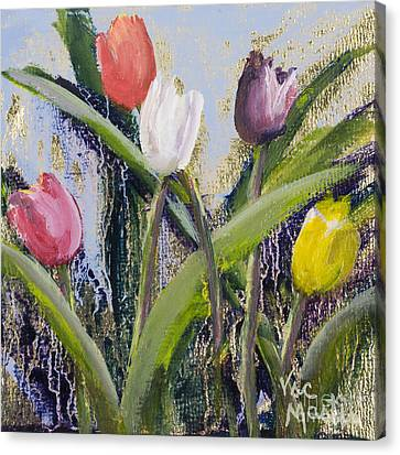 Colorful Tulip Series Canvas Print by Vic  Mastis