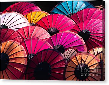 Canvas Print featuring the photograph Colorful Umbrella by Luciano Mortula