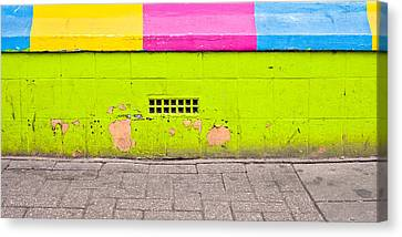 Colorful Wall Canvas Print by Tom Gowanlock