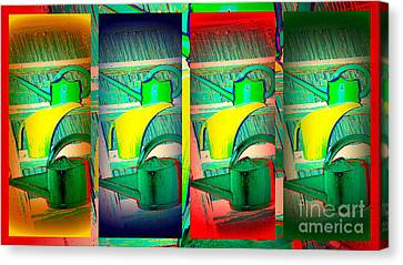 Colorful Water Cans Canvas Print