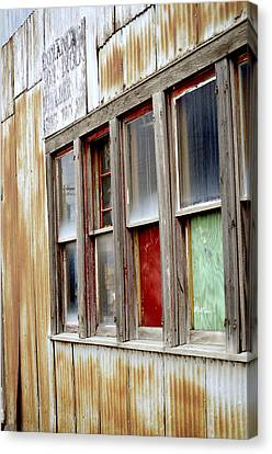 Canvas Print featuring the photograph Colorful Windows by Fran Riley