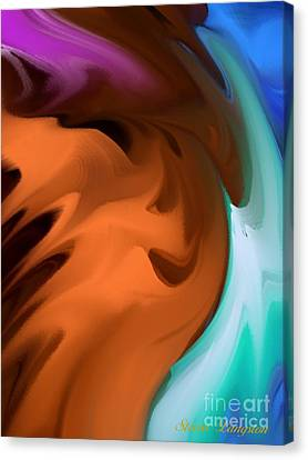 Canvas Print featuring the painting Colors In Motion by Steven Lebron Langston