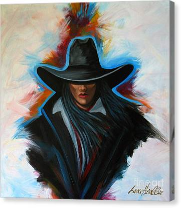 Arizona Contemporary Cowgirl Canvas Print - Colors Of Rain by Lance Headlee