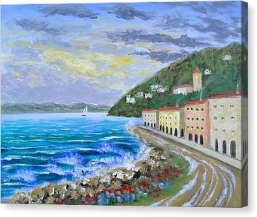 Colors Of The Riviera Canvas Print by Larry Cirigliano