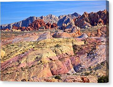 Canvas Print featuring the photograph Colors Of The Valley Of Fire by Joe Urbz