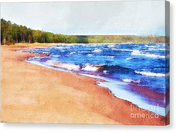 Canvas Print featuring the photograph Colors Of Water by Phil Perkins