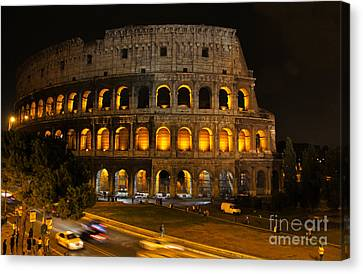 Colosseum By Night Canvas Print by Chris Hill