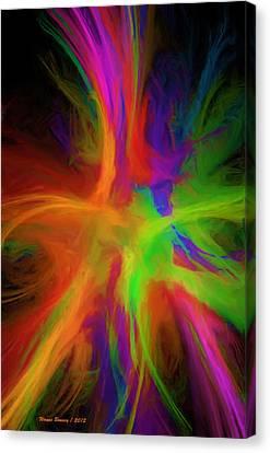 Colour Explosion Canvas Print by Wayne Bonney