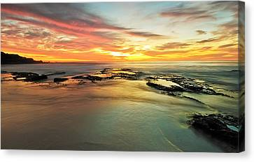 Colour On The Rock Canvas Print by Mark Lucey