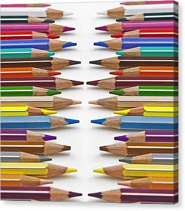 Coloured Pencil Canvas Print by Joana Kruse