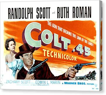 Colt .45, Ruth Roman, Randolph Scott Canvas Print by Everett
