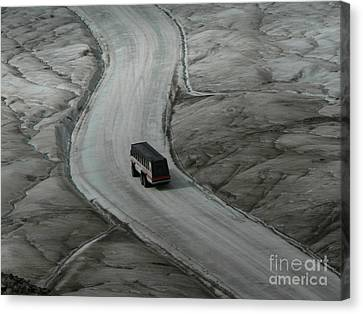 Canvas Print featuring the photograph Columbia Icefield Glacier Adventure by Laurel Best