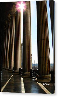 Canvas Print featuring the photograph Columns by Patrick Witz